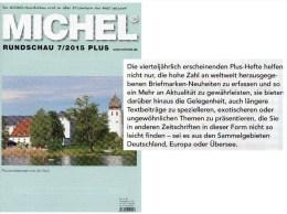 Briefmarken Rundschau MICHEL 7/2015-plus Neu 6€ New Stamps World Catalogue And Magacine Of Germany ISBN 9 783954 025503 - Magazines: Subscriptions