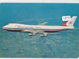 CPM GF - Thèmes - Avions - Boeing 747 B De La Korean Air Lines - 1946-....: Moderne