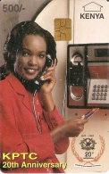 TARJETA DE KENIA DE 500 KSHS DE UNA CHICA (MUJER-WOMAN) - Kenya
