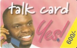 TARJETA DE KENIA DE 600 KSHS DE UN HOMBRE HABLANDO POR TELEFONO FECHA 31/12/2002 (ROSA CLARO) - Kenya