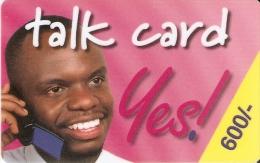 TARJETA DE KENIA DE 600 KSHS DE UN HOMBRE HABLANDO POR TELEFONO FECHA 31/12/2002 (ROSA OSCURO) - Kenia