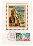 1970--Carte Maximum--Découverte De La Quinine--PELLETIER Et CAVENTOU--cachet  St OMER--62 - Cartes-Maximum