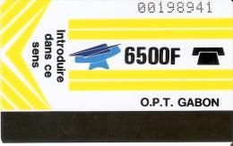 TARJETA DE GABON DE 6500 F - Gabon