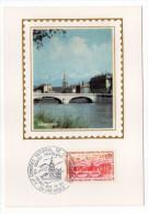 1971--Carte Maximum--GRENOBLE (pont,Isère) -cachet  GRENOBLE--38 - Cartes-Maximum