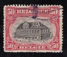 Timbre De  Belgique, 1915    _    Yvert  N° 144   _   50 C. Bibliothèque De L' Université De Louvain - 1915-1920 Albert I