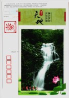 Longwan Flying Waterfall,China 2012 Luoding Landscape Advertising Pre-stamped Card - Holidays & Tourism