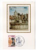 1971--Carte Maximum--Dôle   Place Des Fleurs (fontaine)--39--cachet  Dôle--39 - Cartes-Maximum