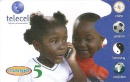 TARJETA DE GABON DE 5 UNITS DE TELECEL DE UNOS NIÑOS (MANGO) - Gabon