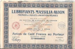 LUBRIFIANT MASSILIA AVION - Aviation