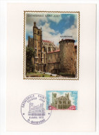 1972--Carte Maximum-Cathédrale De Narbonne--11-cachet  NARBONNE--11 - Cartes-Maximum