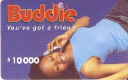 TARJETA DE NIGERIA DE $10000 DE BUDDIE DE UNA MUJER-WOMAN