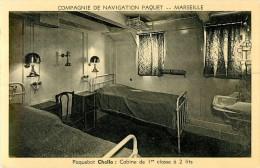 Compagnie De Naviguation Paquet  Marseille Paquebot Cella Cabine De 1er Classe à 2 Lits - Paquebote