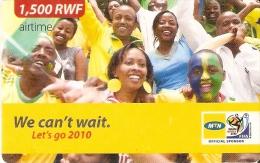 TARJETA DE RUANDA DE MTN DE 1500 FRW CADUCIDAD 31-12-2014 (RWANDA) SOUTH AFRICA 2010 FIFA FOOTBALL - Rwanda