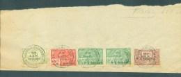 """BELGIE - Fiscale Zegels Op Fragment (ref. 3) """"LOUIS VAN OVERLOOP - ST-NICOLAS - 30 SEP. 1926"""" - Revenue Stamps"""