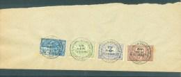 """BELGIE - Fiscale Zegels Op Fragment (ref. 4) """"LOUIS VAN OVERLOOP - ST-NICOLAS - 29 SEP. 1926"""" - Revenue Stamps"""