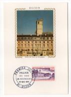 1973--Carte Maximum--Palais Des Ducs De Bourgogne---cachet  DIJON--21 - Cartes-Maximum