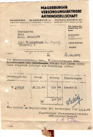 Provinc Sachen Magdeburg 1946 Bill To Pay Travel R - Germany
