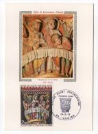 1973--Carte Maximum--Eglise St Austremoine-Chapiteau De La Cène--cachet  ISSOIRE--63 - Cartes-Maximum