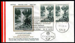 ÖSTERREICH 1970 - Krimmler Wasserfälle / Europäisches Naturschutzjahr - Sonderstempel FDC - Sonstige