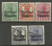 Bayern, Nr. 138 -142, Gestempelt - Bavière