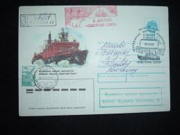 LETTRE ENTIER 7K + TP 6K OBL.30 12 91 + COBETCKUU COIO3 - Polar Ships & Icebreakers