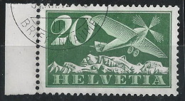HH--606. Yvert PA  N° 4b, Obl., Zumstein N°  4y , Papier Couché Lisse Cote 65.00 CHF = 45.00 € , TIRAGE 300.00 EX, - Poste Aérienne