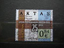 Lietuva Litauen Lituanie Litouwen Lithuania 2015 ** MNH #Mi.1185 Independence Restoration - 25 - Lituanie