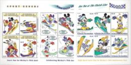 St Vincent - Gren,  Scott 2014 # 2660-2662,  Issued 1992,  3 M/S Of 6,  MNH,  Cat $ 15.00,  Disney - St.Vincent & Grenadines