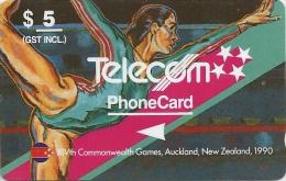 New Zealand - Gymnastics, Commonwealth  Games, 4NZLB, 1990, 80.000ex, Used - Neuseeland
