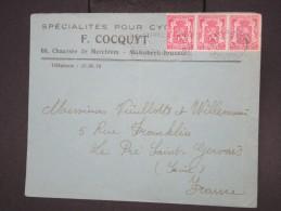 BELGIQUE - Enveloppe Illustrée ( Vélo ) De Bruxelles Pour La France En 1950 - à Voir - Lot P7749 - Belgium