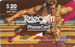 New Zealand - Hurdling, Commonwealth  Games, 4NZLD, 1990, 69.995ex, Used - Nueva Zelanda