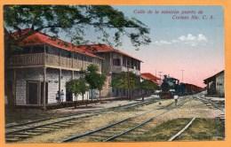 Railroad Station Corinto Nicaragua 1910 Postcard - Nicaragua