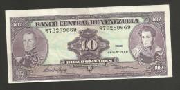 VENEZUELA - BANCO CENTRAL De VENEZUELA - 10 BOLIVARES - (1995) - Venezuela