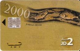 TARJETA DE JORDANIA DE 2JD DE JORDAN RIVER