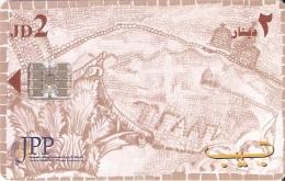 TARJETA DE JORDANIA DE 2JD DE MOSAICS OF MADABA