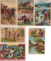 Lot 6 Chromos : Les Abeilles - Tokio - Les Pigeons - Fousy Yama - Trichinopoli - Chasseurs De Phoques - Albums & Catalogues