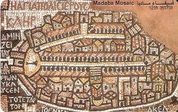 TARJETA DE JORDANIA DE 15JD DE MOSAICS OF MADABA DE TIRADA 10000 - Jordania