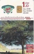 TARJETA DE JORDANIA DE 1JD DE UN ARBOL-TREE  FECHA 03/98 Y TIRADA 200000