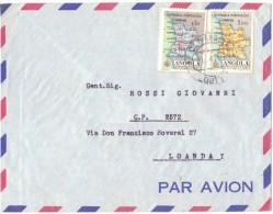 AB16    Envelope - Angola To Loanda (Brasile) 1961 - Angola