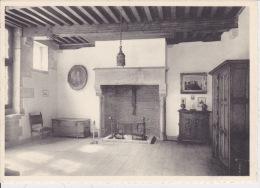 Château D´Ecaussines-Lalaing.  Sallette D'entrée - Cheminée XVe Siècle. - Ecaussinnes