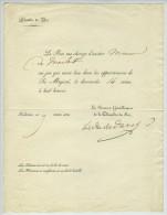"""Invitation Du Roi Charles X à M. Du Meilet """"au Jeu Qui Aura Lieu Dans Les Appartements De Sa Majesté"""". Mars 1830. - Other"""