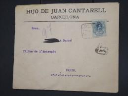 ESPAGNE - Enveloppe En Recommandée De Barcelone Pour Paris En 1913 - à Voir - Lot P7762 - Cartas