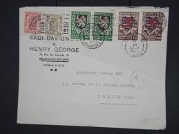 BELGIQUE - Enveloppe Commerciale De Bruxelles Pour Paris En 1941 Avec Marque De Censure - Aff.plaisant - Lot P7763 - Belgium