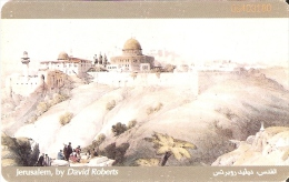 TARJETA DE JORDANIA DE 5JD DE JERUSALEM BY DAVID ROBERTS (PINTURA-PAINTING)