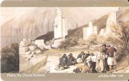 TARJETA DE JORDANIA DE 2JD DE PETRA BY DAVID ROBERTS (PINTURA-PAINTING)
