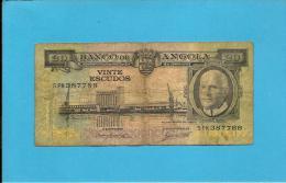 ANGOLA - 20 ESCUDOS - 10.06.1962 - P 92 - AMÉRICO TOMÁS - PORTUGAL - Angola