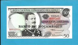 MOZAMBIQUE - 50 ESCUDOS - ND (1976 - Old Date 27.10.1970 ) - UNC - P 116 - JOÃO DE AZEVEDO COUTINHO - PORTUGAL - Mozambique