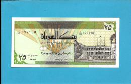 SUDAN - 25 SUDANESE DINARS - 1992 - P 53.b - UNC. - 2 Scans - Soudan