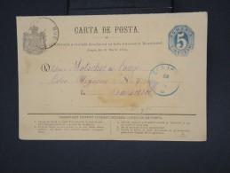 ROUMANIE - Entier Postal De Craiova Pour Bucarest En 1875 - à Voir - Lot P7776 - Zonder Classificatie