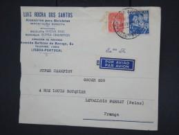 PORTUGAL - Enveloppe Commerciale De Lisbonne Pour La France En 1945 - à Voir - Lot P7779 - 1910-... République